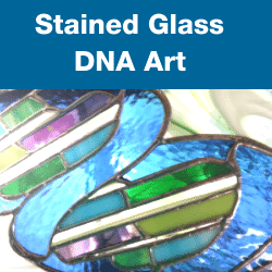 Stained Glass DNA Art