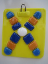 Fused Glass Chromosome Plaque
